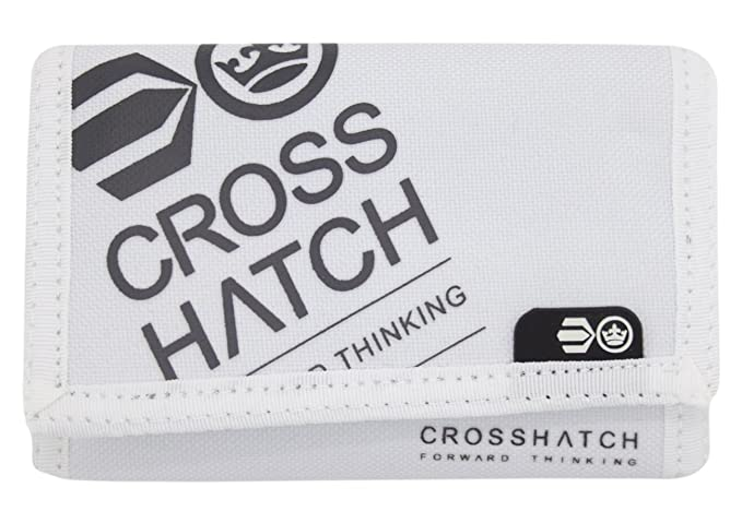 Crosshatch - Cartera para hombre, con tarjetero, triple plegado blanco Affluence-White