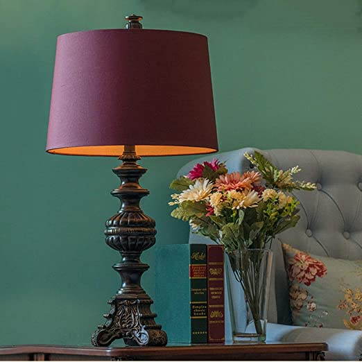 Lámpara de mesa de acento vintage Relieve grande Resina artística ...
