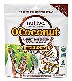 Nutiva O'Coconut Lightly Sweetened Organic, non-GMO Coconut Treat, Hemp and Chia, 8-piece For Sale