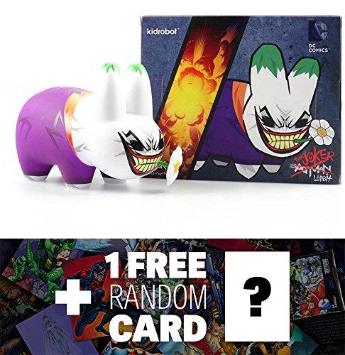 "Joker Labbit: ~7"" Kidrobot x DC Universe Labbit Figure Series + 1 FREE Official DC Trading Card Bundle B00ZV9HQ02"