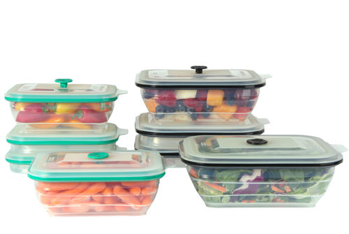 Collapse It Rectangle 8-pack Silicone Food Storage