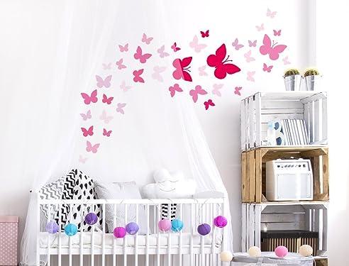 Babyzimmer wandtattoo mädchen  I-love-Wandtattoo WAS-10073 Kinderzimmer Wandsticker Set