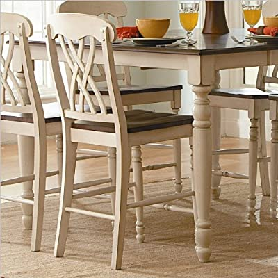 Ohana Counter Height Chair [Set of 2] Finish: Antique White