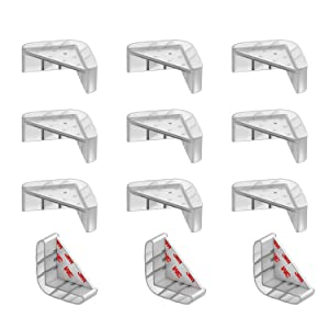 APPASON Double Structure Designed Corner Guards, Baby Proofing Table Corner Protectors, Keep Child Safe, Protectors for Furniture Against Sharp Corners 12 Packs