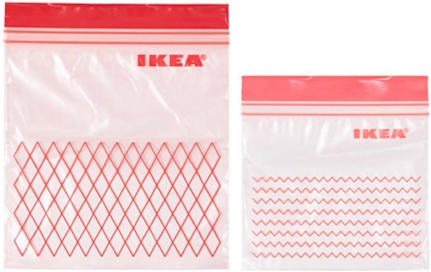 Ikea Bolsa, Rojo, 19x8x5 cm, 60 Unidades