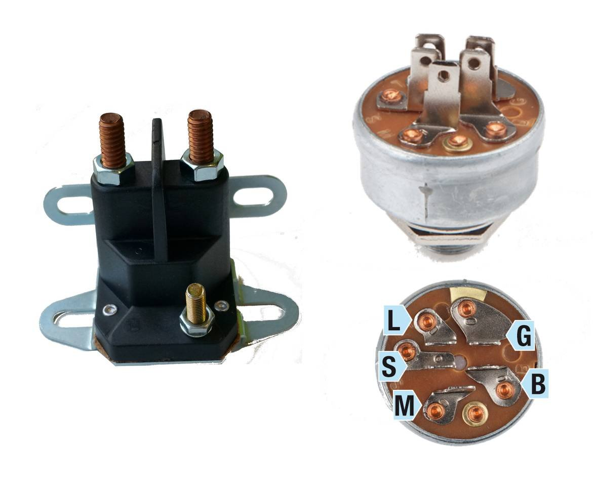 Magnetschalter universal 3 Anschlüsse 12V Aufsitzmäher MTD Stiga Castel Garden