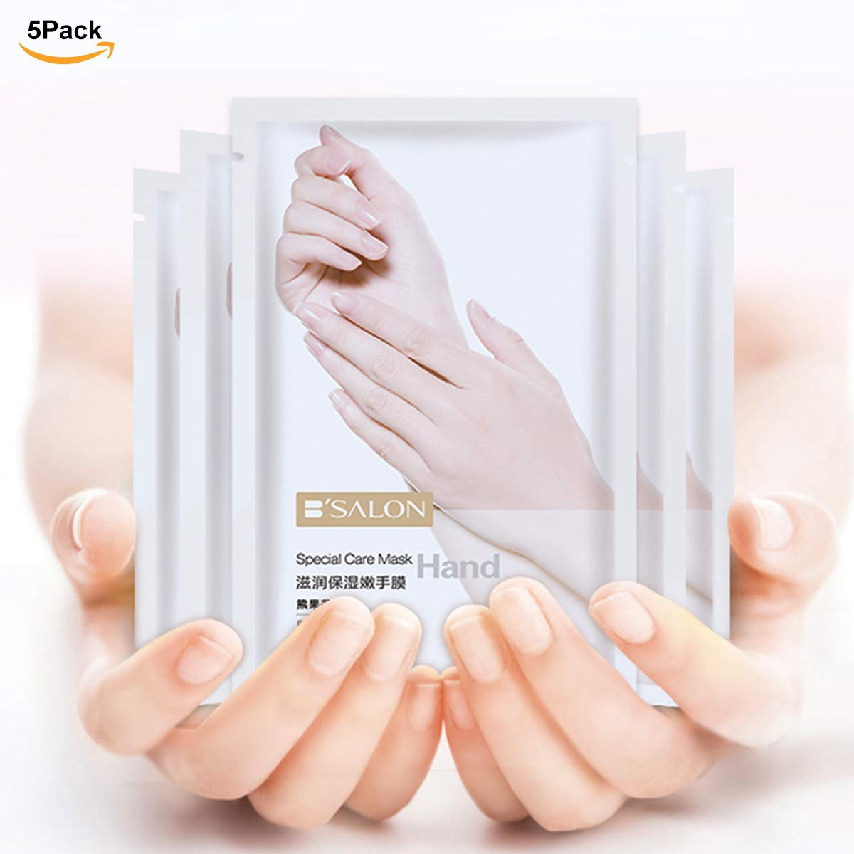 Bariicare Hand Peel Mask Moisturizing Gloves Spa For Dry Skin Hands Care Winter Nourishing Enhancing Soothing Whitening Retain Hydration Exfoliator Off hand peeling mask for mens women Ladies 5Pack