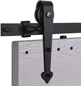 CCJH 5FT-152.6cm Herraje para Puertas Kit de Accesorios para Puerta Correderas Juego de Armarios de Acero Corredizos para Puertas Corredera Riel Rueda para Puerta de Madera Individual: Amazon.es: Bricolaje y herramientas