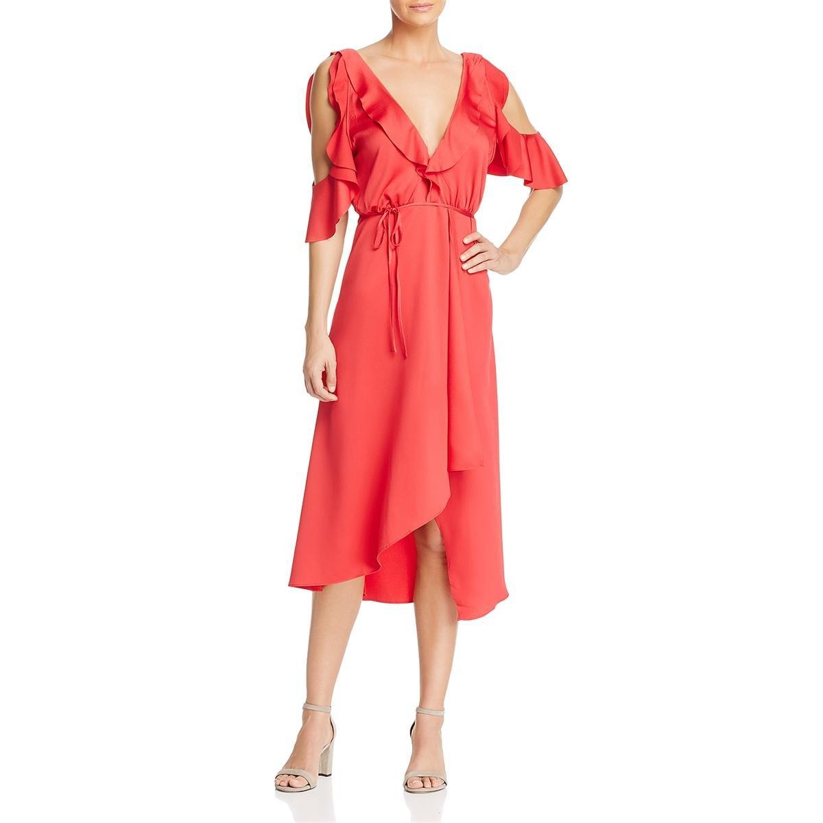 French Connection Women's Maudie Drape Dress, Watermelon, 6