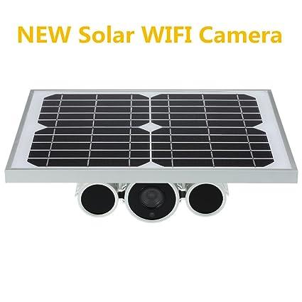 generación de energía Solar WiFi ONVIF IP P2P cámara con 80m de visión Nocturna y Paneles