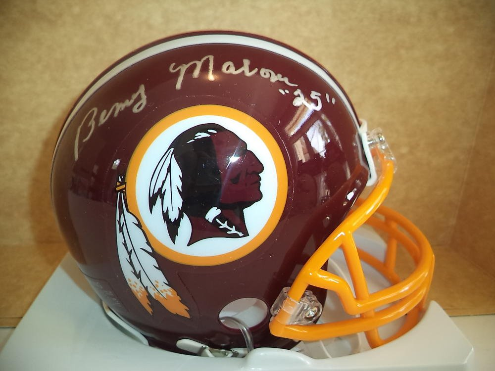 Amazon.com  BENNY MALONE  25 WASHINGTON REDSKINS SIGNED AUTO RIDDELL MINI  HELMET W COA  Sports Collectibles b3fe4feb4