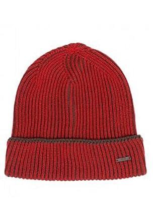 Amazon.com  Hugo Boss Knitted Beanie hat in Two-Tone Virgin Wool ... d9e9a0c5b7d