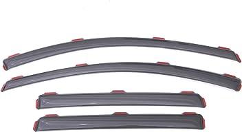 Tuningpros WD2-827 Outside Mount Window Visor Deflector Rain Guard Dark Smoke 4 Pcs Set Compatible With 2010-2014 Mercedes-Benz E350 E63