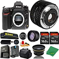 Great Value Bundle for D750 DSLR – 50MM 1.8D + 2PCS 16GB Memory + Wide Angle + Telephoto Lens + Case