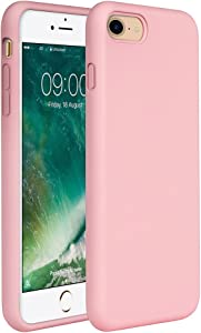 """Miracase iPhone SE Case(2020),iPhone 8 case,iPhone 7 Silicone Case Gel Rubber Full Body Protection Shockproof Cover Case Drop Protection for Apple iPhone 9/ iPhone 8/ iPhone 7(4.7"""")(Rose Pink)"""