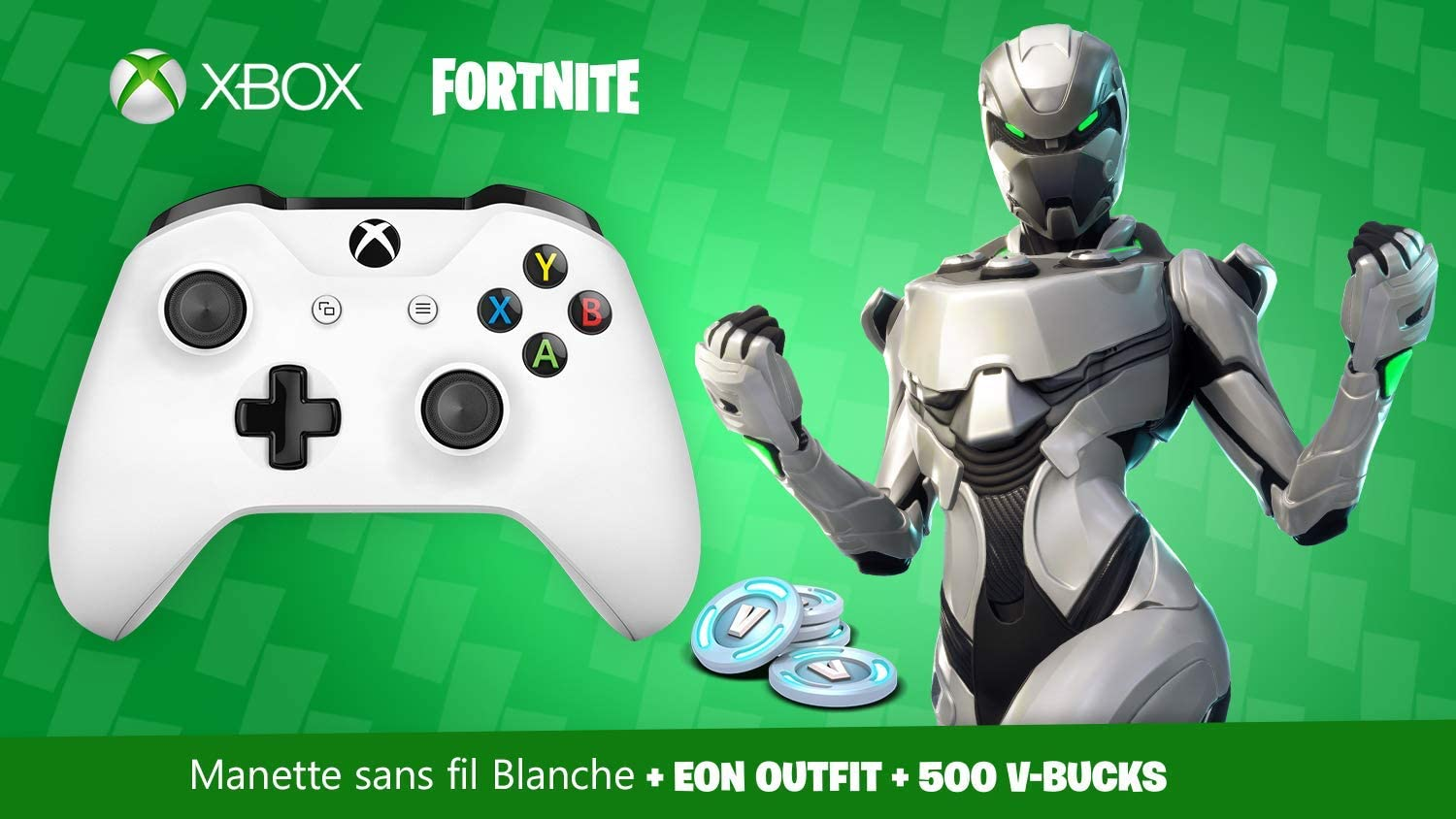 Manette Xbox One Blanche sans fil + Tenue EON sur Fortnite Battle ...