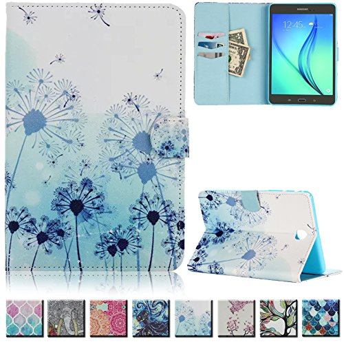 UUcovers(TM) Galaxy Tab A 8.0 inch T350 Case -Ultra Slim Premium Leather Shockproof Flip folio Smart Shell with auto sleep/wake function(NOT FIT for Samsung Galaxy Tab 4 8.0-T330)(Dandelion) by UUcovers