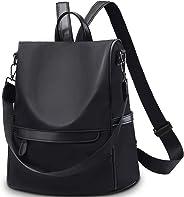 Imikoko Women Backpack Purse Anti-Theft Waterproof Casual Rucksack Fashion Nylon Lightweight Large Travel Bag Ladies Shoulder