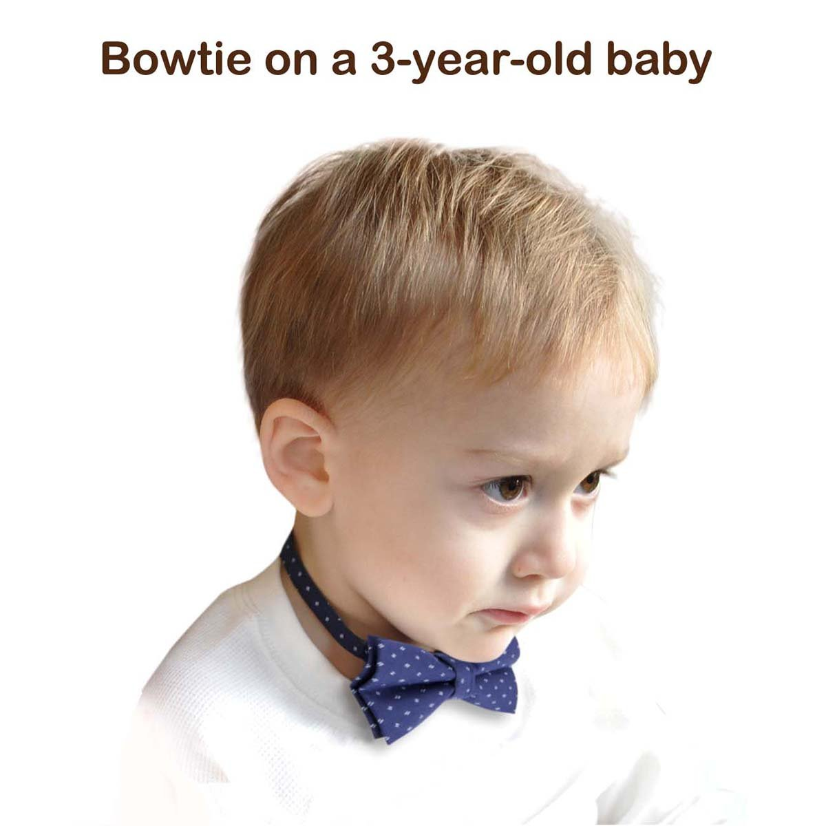 Designer Cotton Bow Tie Adjustable Bowtie for Baby Boys and Kids
