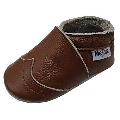 bec10c5c432ef Mejale Baby Shoes Soft Sole Leather Crawling Moccasins Infant Toddler Crib  Slippers