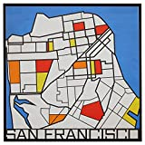 Pop Art Print of San Francisco in Primary Colors, 26