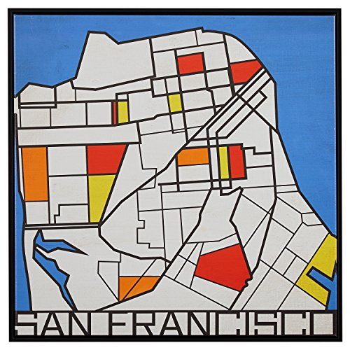 Cosmopolitan Maps Wall (Pop Art Print of San Francisco in Primary Colors, 26