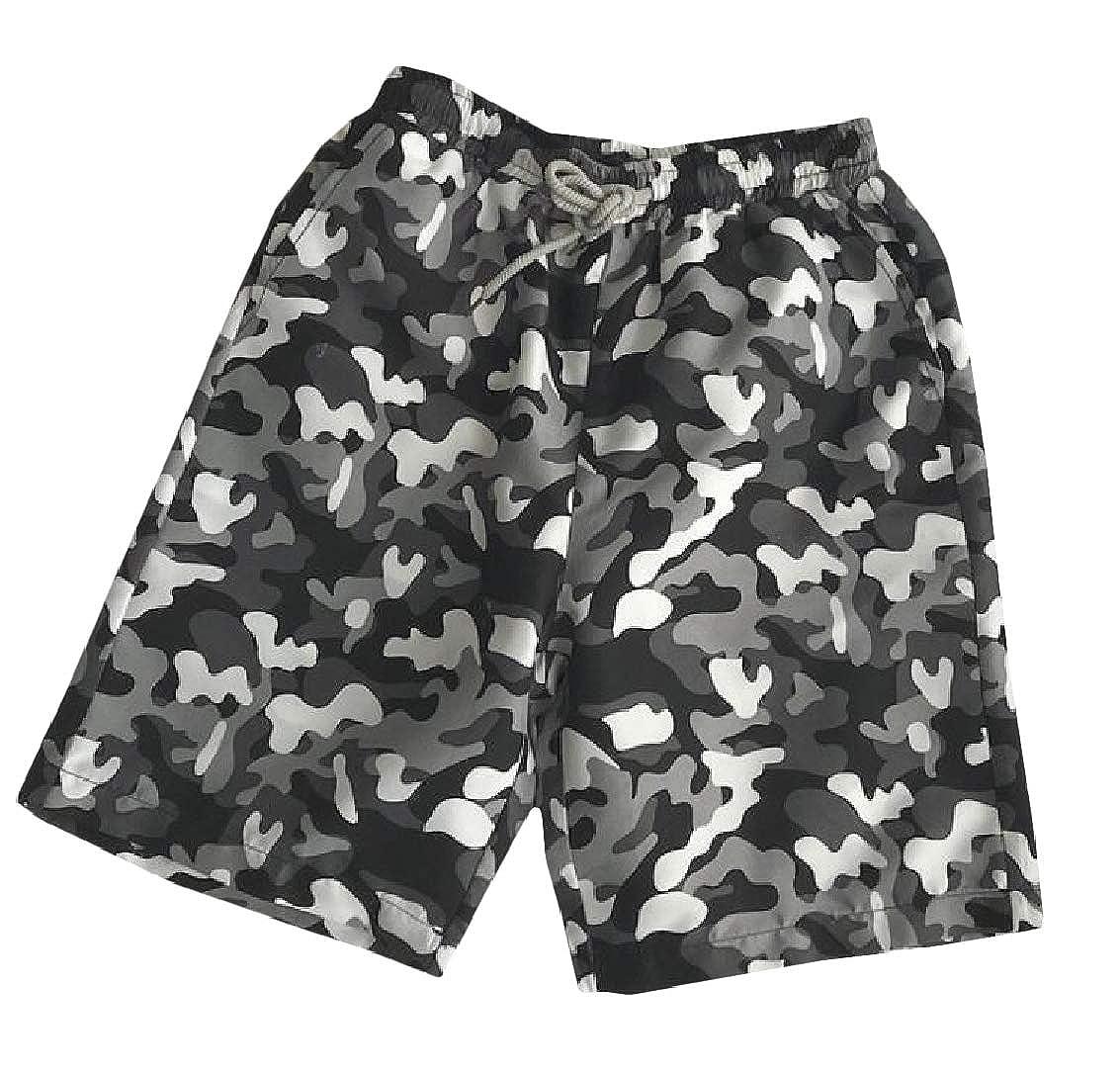 Sweatwater Men Printed Hawaiian Holiday Elastic Waist Beach Board Shorts