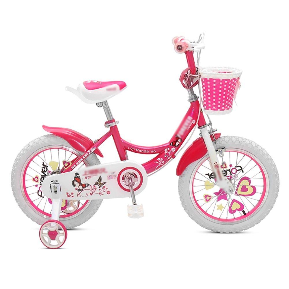 子供用自転車12 14 16 18インチガールベビーサイクリング2-3-6歳児用キャリッジバイクピンクローズレッドパープル B07DVX8DG9 16 inch|ローズレッド ローズレッド 16 inch