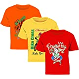Kiddeo Kids Boys Tshirts(Pack of 3) (5pcs_Rd_yl_Or)