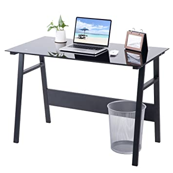 Vida para silla oficina en casa escritorio compacto cristal negro ...