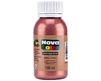 Nova Color şişe Akrilik Boya Bakır 100 Gram Nc 521 Amazoncomtr