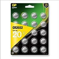Gp CR2032 Litowe Baterie Guzikowe 3 V, 20 Sztuk
