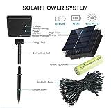 LiyuanQ 2 Pack Solar String Lights, 8 Modes Solar