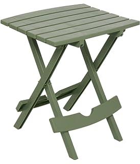 Adams Manufacturing 8500 01 3700 Plastic Quik Fold Side Table, Sage