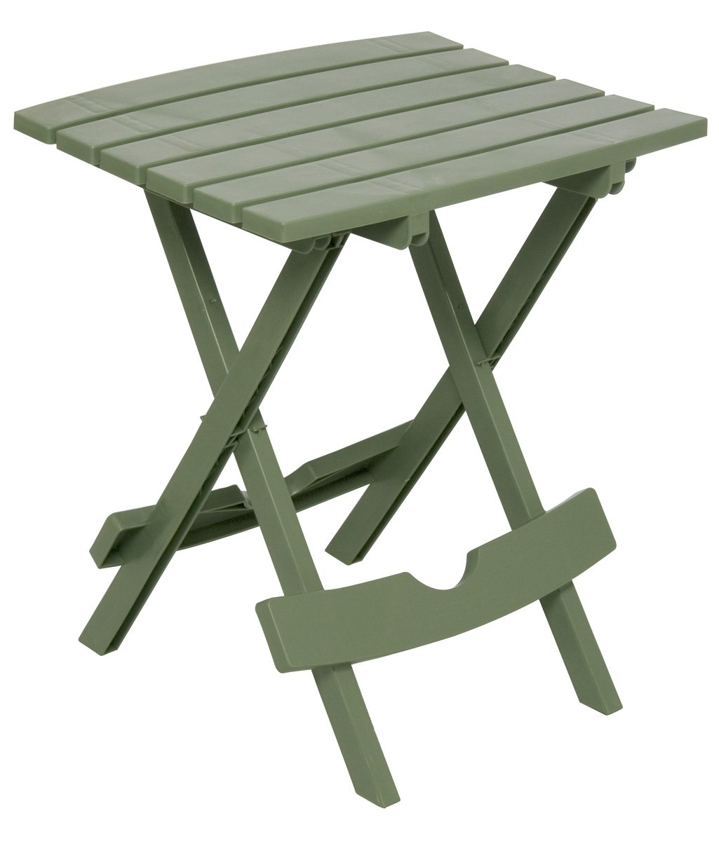 Adams Manufacturing 8500-01-3700 Plastic Quik-Fold Side Table, Sage by Adams Manufacturing