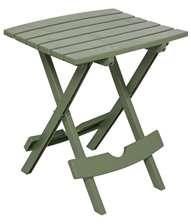 Adams Manufacturing 8500 01 3700 Plastic Quik Fold Side Table, Sage