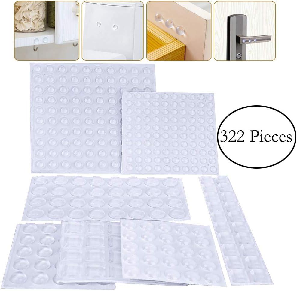 Tablas de Cortar Tapas de Cristal Cajones Lagrimas Silicona Gotas Silicona Adhesivas 4 Tama/ños para Armario Tyelany Pies de Goma Transparentes 400 Piezas Topes Adhesivos Transparentes