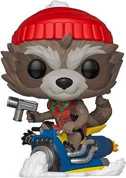 Funko Pop! Bobble Vinyle Marvel: Holiday - Rocket: Amazon.es: Juguetes y juegos