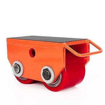 Monopatín mecánico con rollos fijas rueda para transpaleta rodillo para paleta rojo