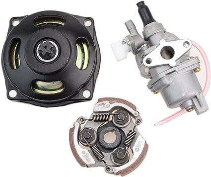 GOOFIT 2 Tiempos 13mm Minimoto Carburador Motor con Cambios ...
