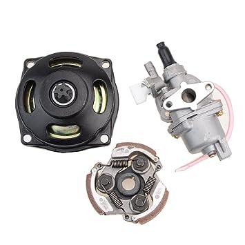 GOOFIT 2 Tiempos 13mm Minimoto Carburador Motor con Cambios Embrague 23cc 33cc 43cc 47cc 49cc Pocket