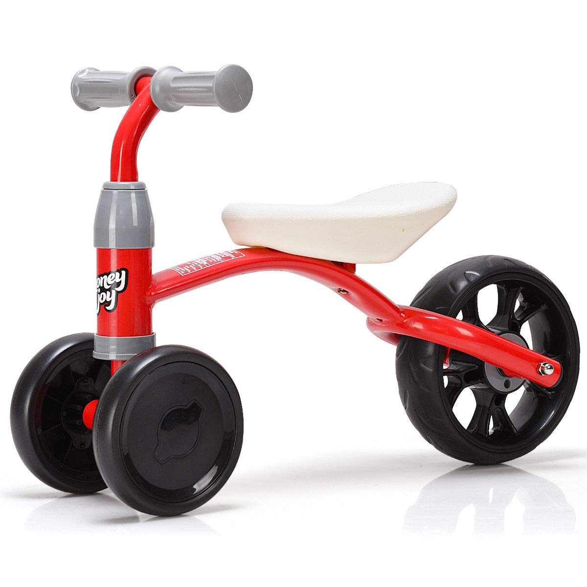 HONEY JOY Baby Balance Bike, 3 Wheels Learn to Walk Toddle Tricycle, Solid Construction, 110lbs Capacity, Steering Limit, No Tool Required for Assembly, No Foot Pedal Walker for Boys & Girls
