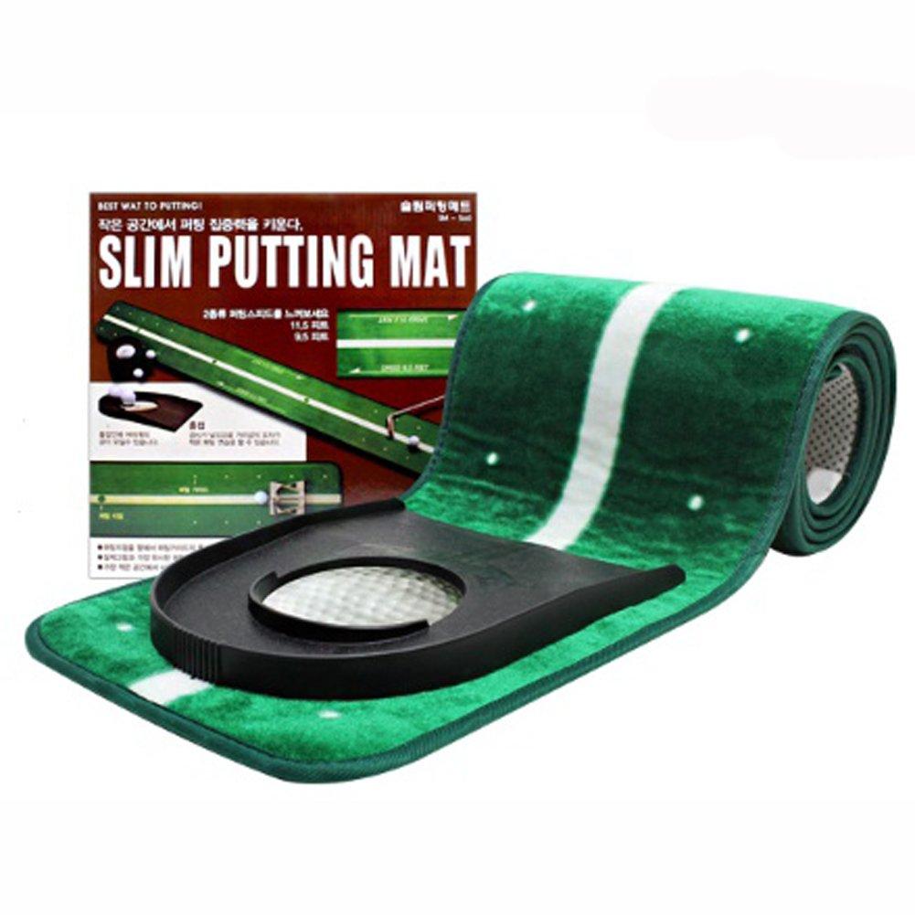 Golfami SM-560 Slim Putting Mat Hole cup set 25cm x 2M with 2 types of Speed ラバーミーSM-560スリムパットマットホールカップセット25cm x 2Mスピード2種類 並行輸入]   B06XPJ9MJZ