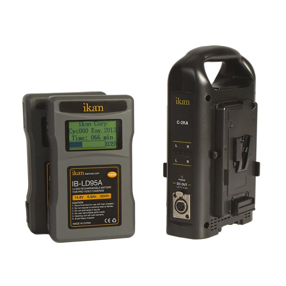 Ikan c-2ka-kit ABマウントComp。充電器とバッテリキット Charger w/ 95Wh Batteries  B00KADW3E8
