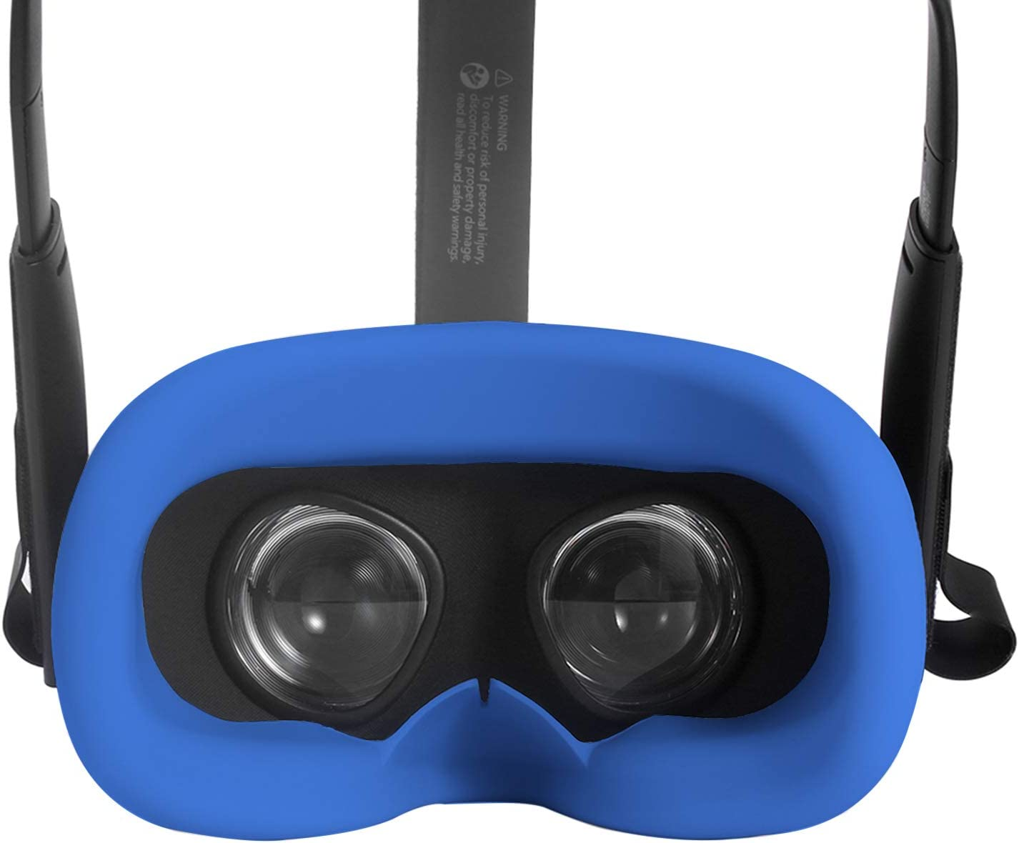 Fromsky Face Cover for Oculus Quest, Silicone Eye Mask Pad (Blue)