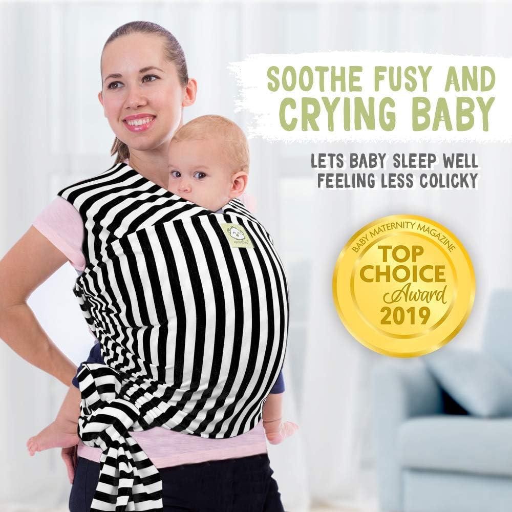 correa para beb/é Portabeb/és el/ástico todo en 1 para beb/é Franjas Negras portabeb/és regalo para baby shower envoltura para beb/és manos libres