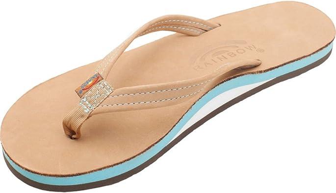 Rainbow - Chanclas de Piel Vuelta para mujer Sierra/Ocean, color Azul, talla 39: Amazon.es: Zapatos y complementos