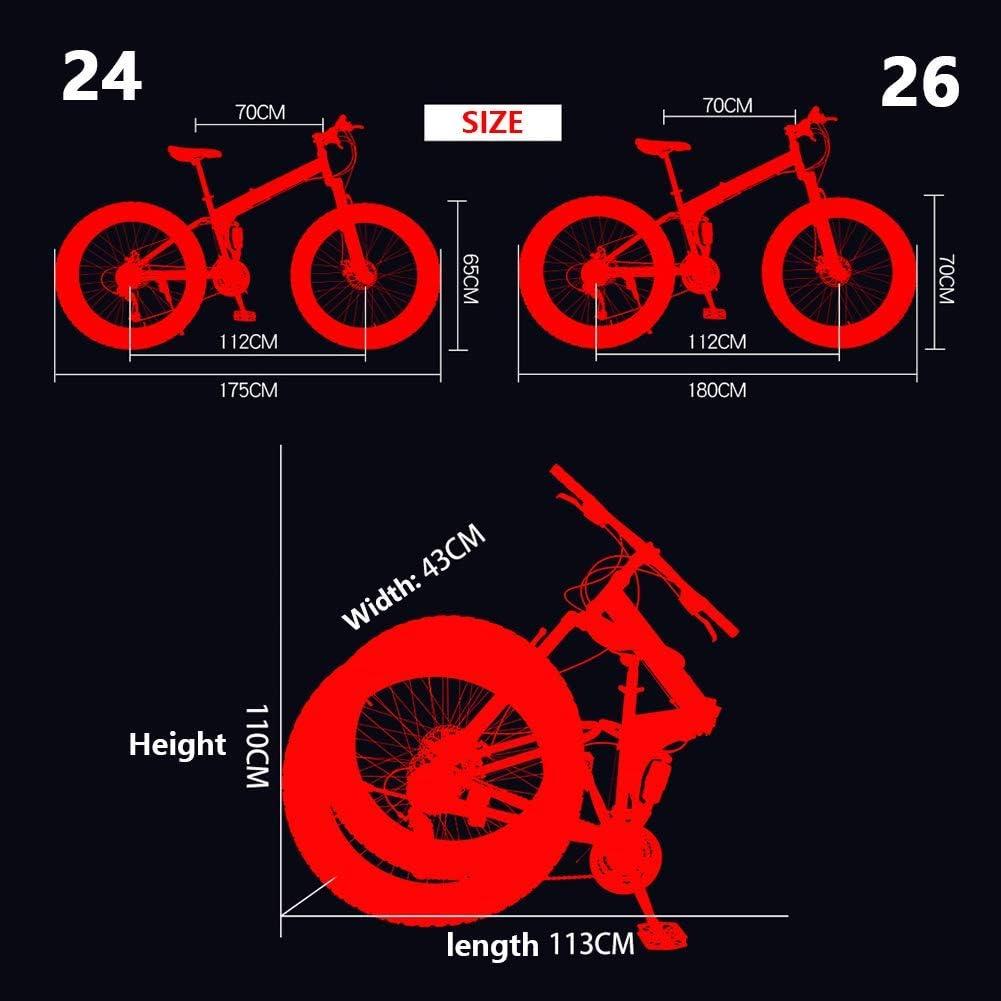 Oanzryybz 26 Pulgadas 7/21/24/27 Velocidad de Bicicletas de ...