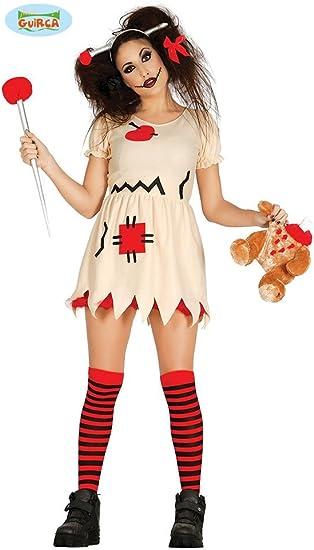 Disfraz de muñeca vudu trapo terror: Amazon.es: Juguetes y juegos