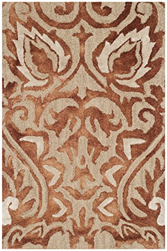 Safavieh Dip Dye Collection DDY511Q Handmade Copper and Beige Wool Area Rug (2' x 3')
